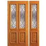 AAW Inc. 101-A-1-1 OAK Unique Red Oak Entry Doors Single Door, One Sidelite, Red Oak, Traditional with Insulated Beveled Glass