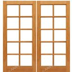 AAW Inc. Mahogany 10-Lite Double Interior French Doors Pair of Mahogany 10-Lite with Choice of Glass
