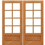 AAW Inc. Mahogany 8-Lite Panel Double Interior French Doors Pair of Mahogany 8-Lite with Choice of Glass