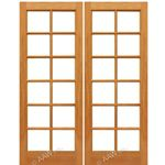 AAW Inc. Mahogany 12-Lite Double Interior French Doors Pair of Mahogany 12-Lite and  Choice of Glass