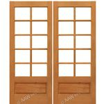 AAW Inc. Mahogany 10-Lite Panel Double Interior French Doors Pair of Mahogany 10-Lite with Choice of Glass