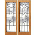 AAW Inc. K-2 Decorative Glass Doors Pair of Full Beveled Glass Doors with Unique Design