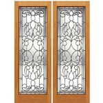 AAW Inc. L-2 Decorative Glass Doors Pair of Full Beveled Glass Doors with Unique Design
