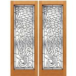 AAW Inc. S-2 Decorative Glass Doors Pair of Full Beveled Glass Doors with Unique Design
